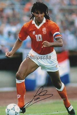 Ruud Gullit Holland Autographed 12x8inch photograph