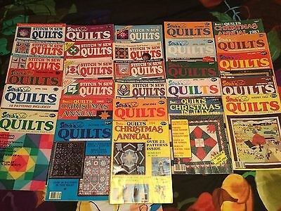 Lot Of 28 Vintage (1980'S) Quilting Magazines! Great Condition! See Photo!!!