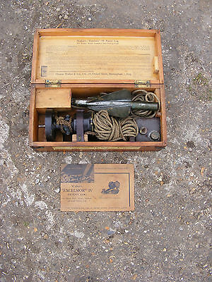 """Vintage Thomas Walker & Son """"Excelsior"""" IV Patent Log Boat Yacht Lifeboat in Box"""