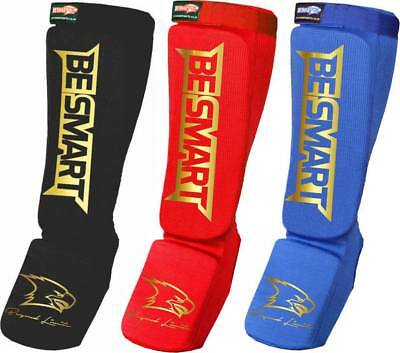 Shin Instep Foot Leg Protector Kick Boxing Contact MMA Pads