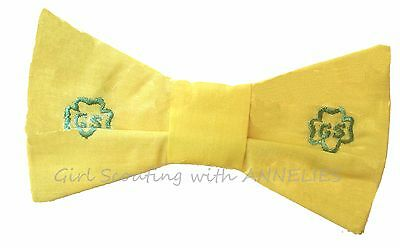 Yellow BOW TIE Junior Girl Scout Uniform 1960s Official EUC Halloween Costume