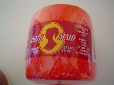 Southmaid Crochet Cotton Thread Red Lot  131 Size 10
