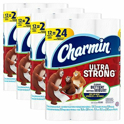 Charmin Ultra Strong Toilet Paper Bath Tissue Double Roll 48 Count Clog Safe