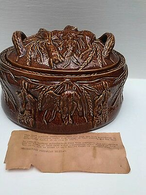 Portmeirion Pottery Made In England Vintage Lidded Tureen Game Pie Dish