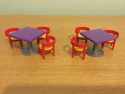Playmobil resturant spare tables and chairs Table playmobil