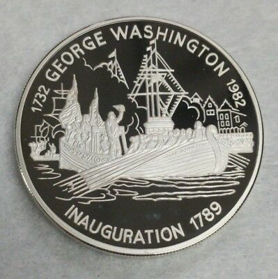 1982 Antigua & Barbuda $30 Silver Proof Coin, George Washington Inauguration