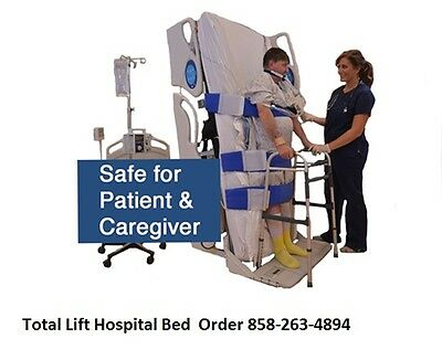 Total Lift Hospital Bed Acute Care ICU Care Medical Bed Stands Straight Up