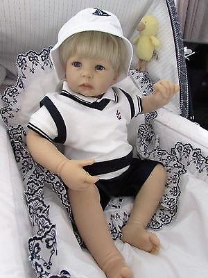 "Boys ""KRIS X KIDS"" Blue &White Three piece Anchor set size 0-3 & 3-6 months bnwt"