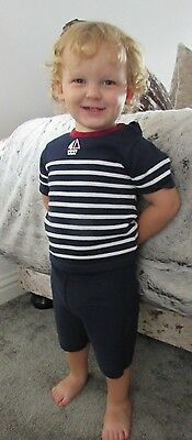 "Boys ""Rock-a-Bye"" Cotton Sailor  two piece  set sizes available 0-9 months bnwt"