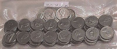 1955 to 1981 Canadian Nickels Lot of 10 Coins -.999 PURE NICKEL. FREE SHIPPING!