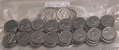 Canadian Nickels Lot of 25 Coins - 1955-1981 - .999 PURE NICKEL. FREE SHIPPING!