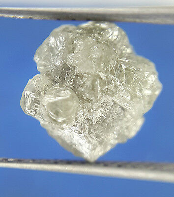 3.24TCW Silver Sparkling Color Natural shape Antique African Raw Rough Diamond