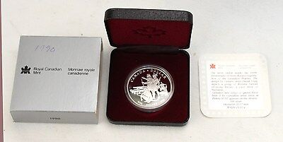 1990 Canada Silver Proof Dollar Box & COA Henry Kelsey