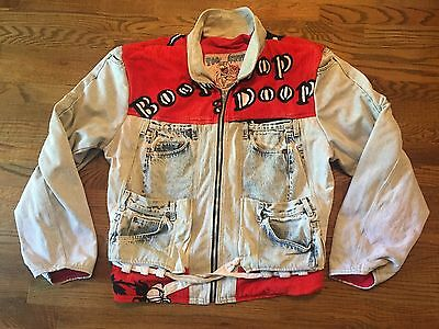 Vintage RARE 1980s Betty Boop Levi's Denim Terry Cloth Jacket One Size Fits All