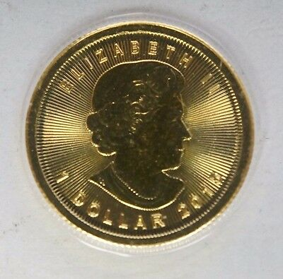 2015 1/20oz Canadian Gold Maple Leaf Coin .9999 Fine BU # 2