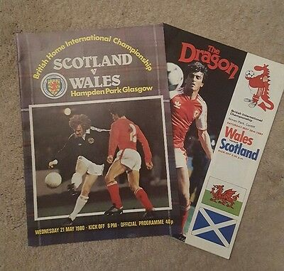wales v Scotland 80/83 football programmes