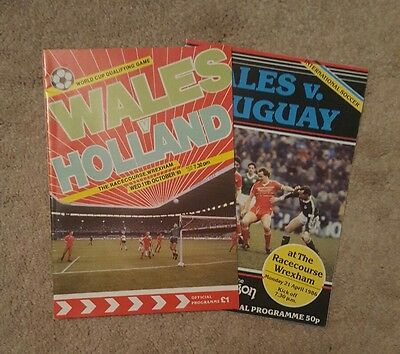 wales v Holland 89. v Uruguay 86 football programmes