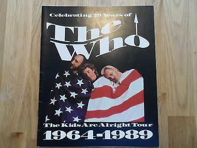 THE WHO concert programmes collection Tommy 1989 1981 2002  tct  02 12 pics