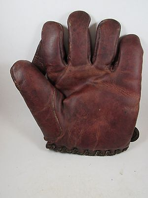 Vintage Spalding Ox blood one inch web baseball glove