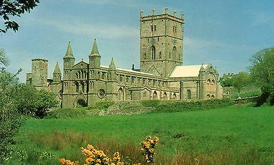 Postcards St David's Cathedral real photograph  posted