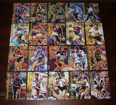 1996 Series 1 Rugby League Cards CAPTAINS CARDS 20/20 Complete set of 20 Cards