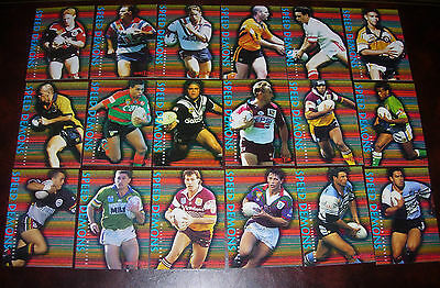 1996 Series 1 Rugby League Cards SPEED DEMONS Complete set of 18 Cards