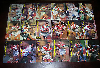 ST GEORGE DRAGONS Full set of 18 Cards ~ Series 1 & 2 ~1996 Dynamic Rugby League