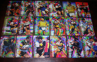 1996 Series 1 Rugby League Cards BONE RATTLERS Complete set of 18 Cards