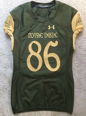 2016 Team Issued Notre Dame Football Shamrock Series Ua Jersey #86 San Antonio