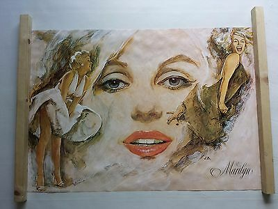 Marilyn Monroe Poster Large Vintage Original 1977 Minerva 101385 Was Unopened