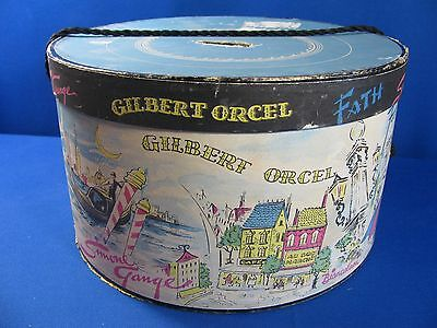 Vintage Gilbert Orcel Hat Box – French Scenes