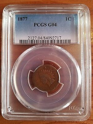 1877 indian head penny PCGS CERTIFIFIED G04
