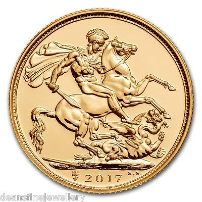2017 Gold FULL Sovereign Queen Elizabeth II FIFTH PORTRAIT Global Shipping