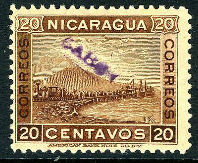Nicaragua 1905 Cabo 20¢ Brown Mint Q363