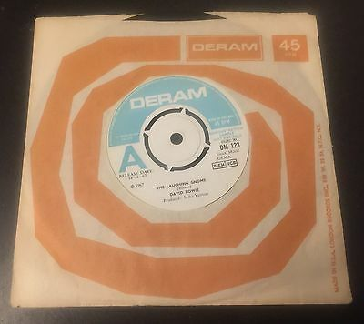 """David Bowie The Laughing Gnome UK Promo 7"""" vinyl single, 1967"""
