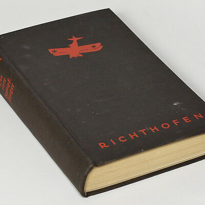 Manfred von Richthofen, German WWI Fighter Ace book 'The Red Baron' with photos