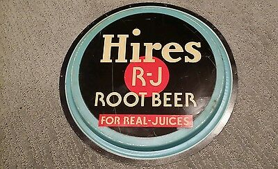 Hires Root Beer Original round Sign Advertising metal not porcelain button? Top?