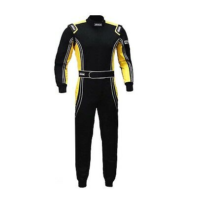 NEW JXHRacing RB-CR014 One Piece Auto Go Karts Racing Suit Yellow ~ Medium
