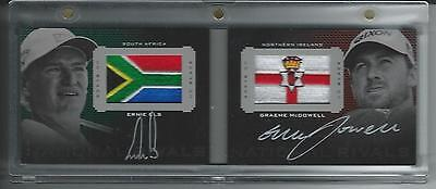 ERNIE ELS McDOWELL 2013 UD BLACK EXQUISITE NATIONAL RIVALS DUAL AUTO CARD 12/25
