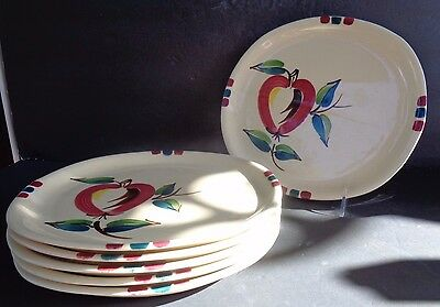 Vintage Purinton Slip Ware Apple Pattern Dinner Plate One W/5 Available