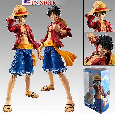 Anime One Piece Monkey D Luffy The New World Action Figure Figurine Toy Gift