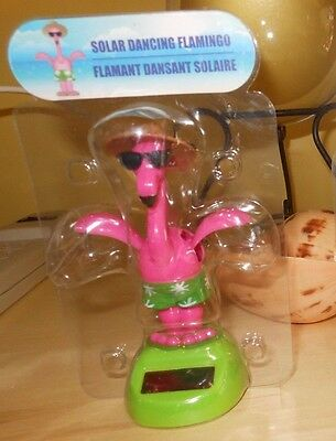 NEW Solar Dancing Flamingo Bobbing Motion Wings Flying Spring Easter in Package