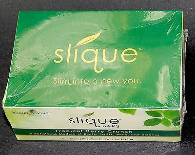 NEW Young Living Slique Bars Sealed Box of 6 Tropical Berry Crunch Weight Loss