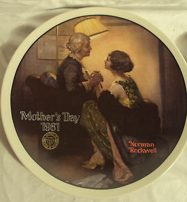 """Norman Rockwell Collector Plate Mother's Day 1981 """"After the Party"""""""