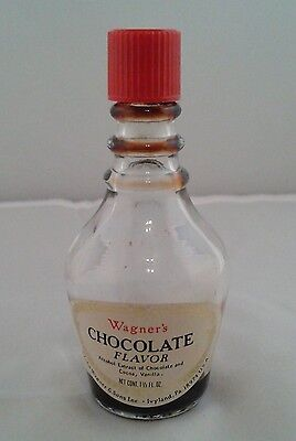 Vintage Wagner's Chocolate Flavor Extract, 1 1/2oz