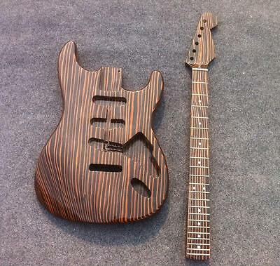 Good Sound ST Electric Guitar Kits One Piece Woood Body CNC Made Unfinish Guitar