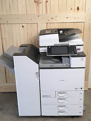 MP C4503 Color Laser Multifunction Printer, 4-Trays, W/ SR3140 Staple Finisher