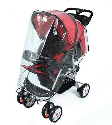 Universal Baby Waterproof Strollers Rain Cover Wind Shield Fit Most Clear Dust