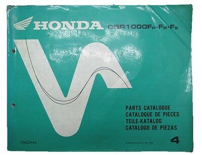 HONDA Genuine Used Motorcycle Parts List CBR1000F Edition 4 SC24 in English