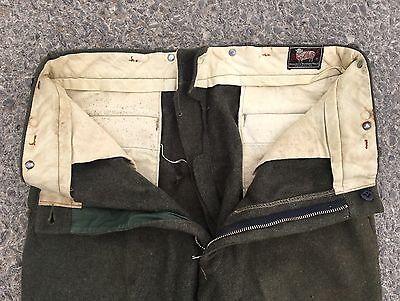 Vintage 1940s 40s Woolrich Wool Hunting Pants Trousers Made In USA (35/30)